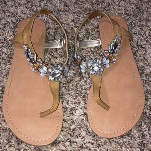 Rhinestone madden girl sandals